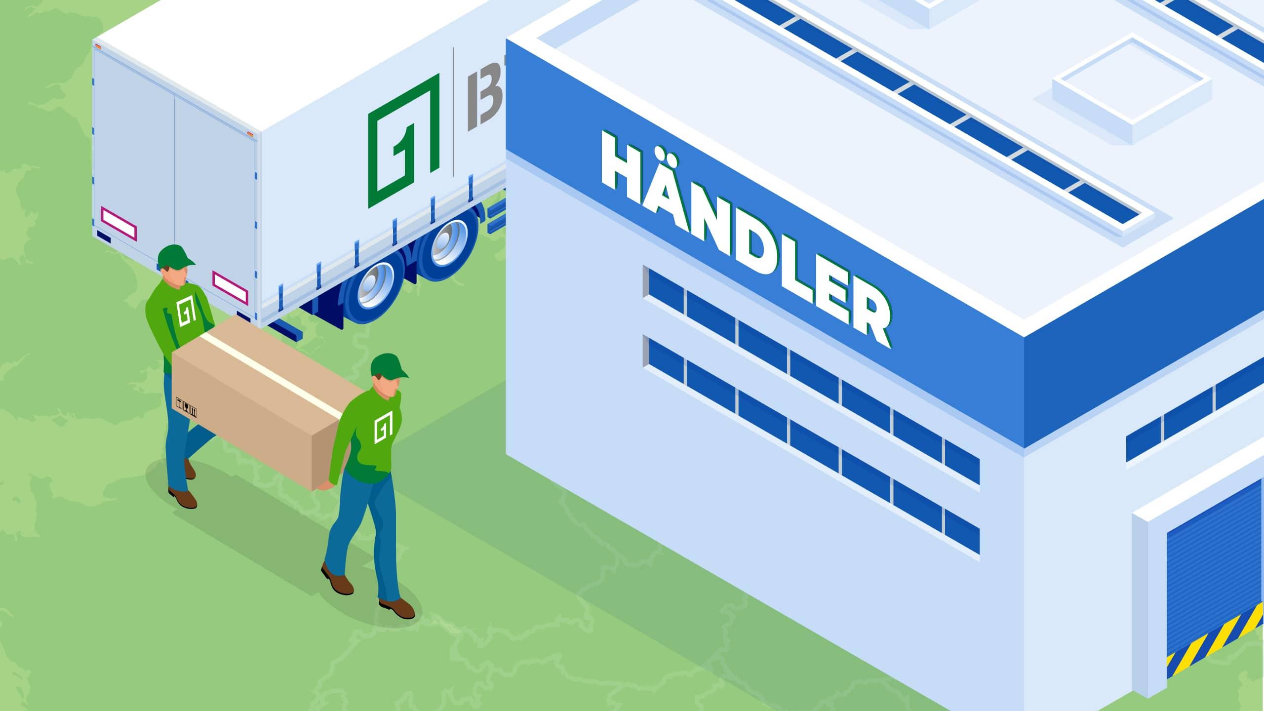 BTS Logistikunternehmen Küchenmöbel Logistik zum Händler