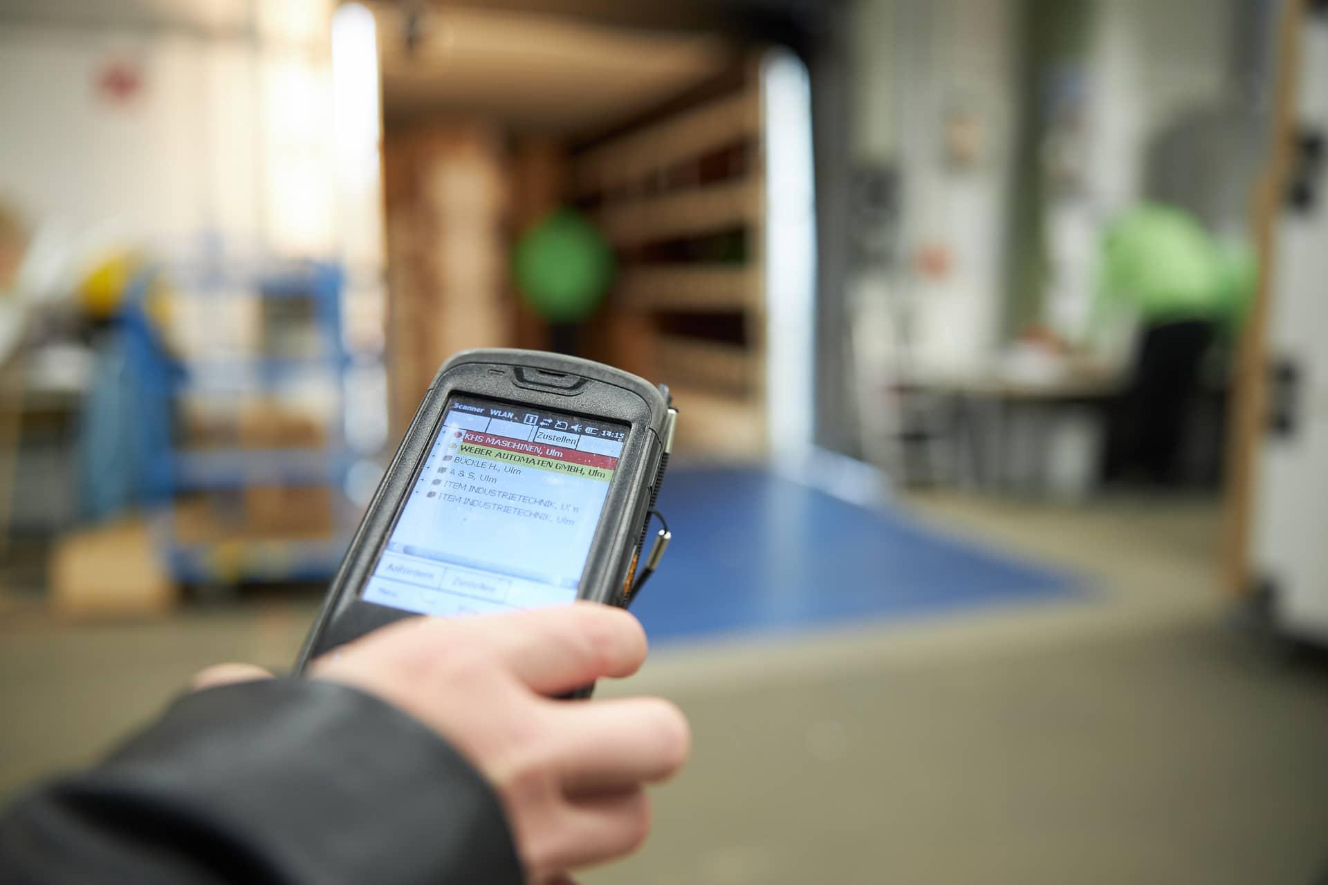 Ablieferscannung BTS Logistik